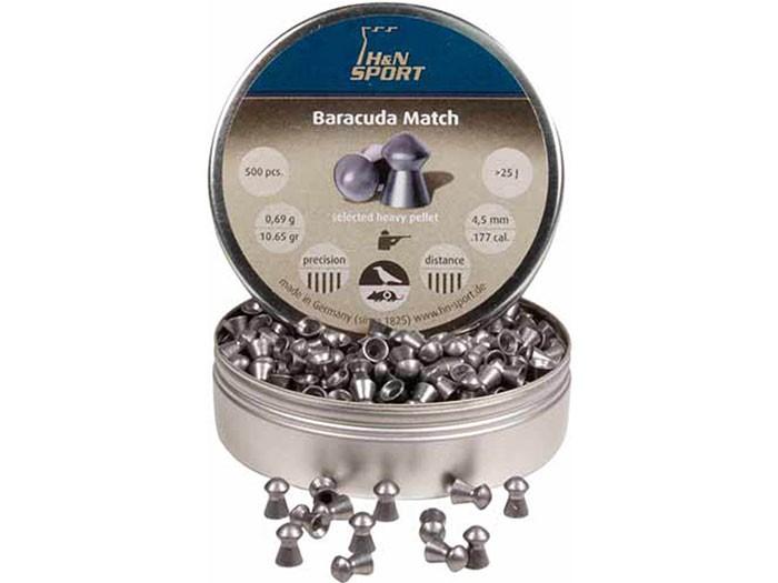 H&N Baracuda Match, .177 Cal, 10.65 Grains, Round Nose, 500ct