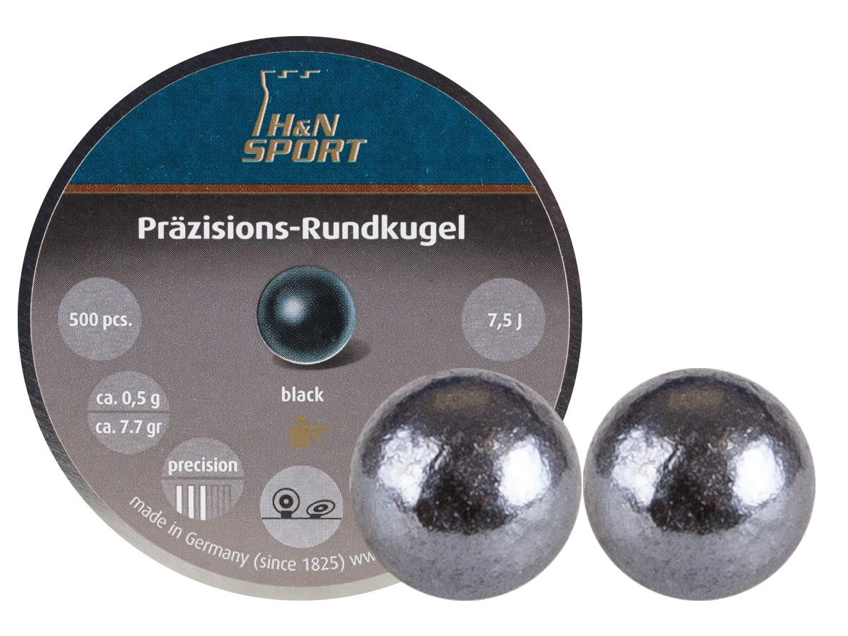 H&N Rundkugel, .177, 4.50mm Dia., 7.70 Grains, Round Ball, 500ct