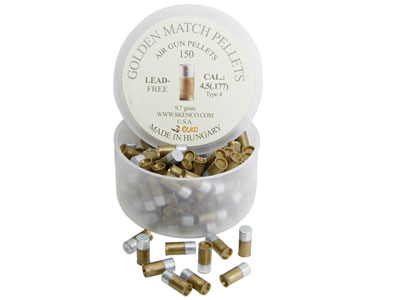 Skenco Golden Match Type 4, .177 Cal, 9.26 Grains, Wadcutter, Lead-Free, 150ct