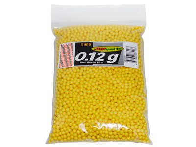 TSD Sports 6mm Plastic Airsoft BBs, 0.12g, 5,000 Rds, Yellow