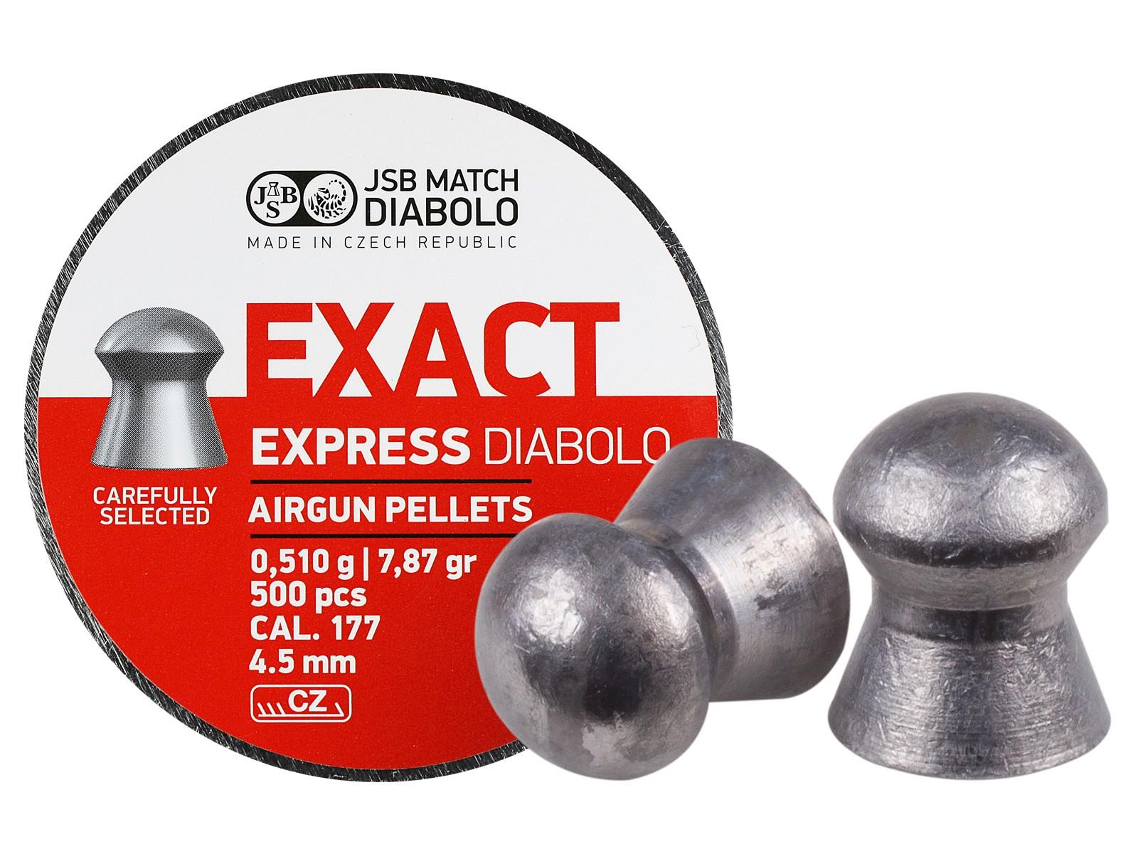 JSB Match Exact Express Diabolo, .177 Cal, 7.87 Grains, Domed, 500ct