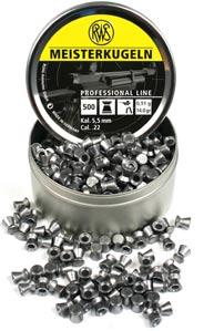 RWS Meisterkugeln Standard .22 Cal, 14.0 Grains, Wadcutter, 500ct
