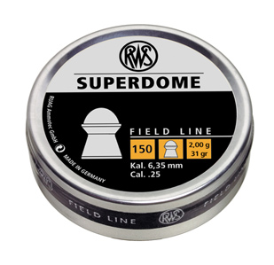RWS Superdome .25 Cal, 31.0 Grains, Domed, 150ct
