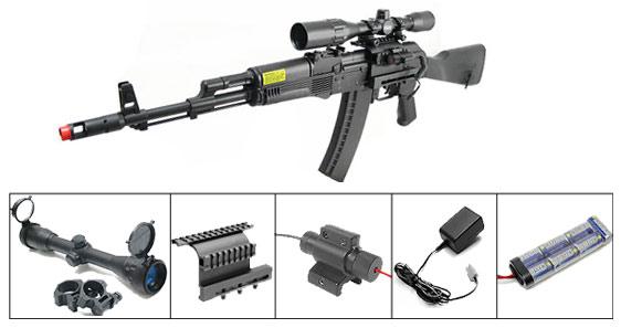 ics ak74 aeg complete kit 3  airsoft guns
