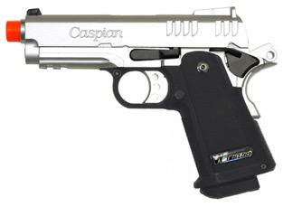 Caspian Baby Hi-Capa 3.8 Silver Gas Pistol
