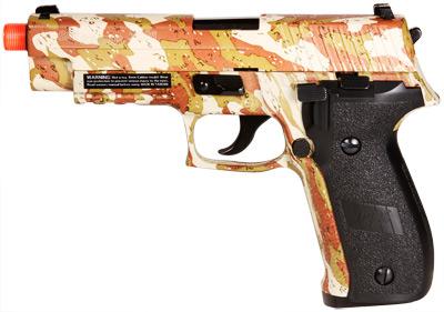 SIG Sauer P226 Blowback Gas Pistol, Camo