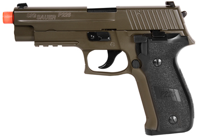 Airsoft Guns, KJW,Sig Sauer P226 OD Green,gas blowback pistol,gbb, pyramyd air