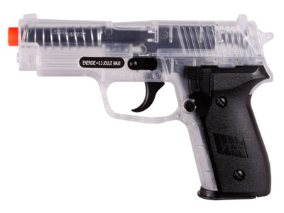 SIG Sauer P228 Spring Airsoft Pistol, Clear