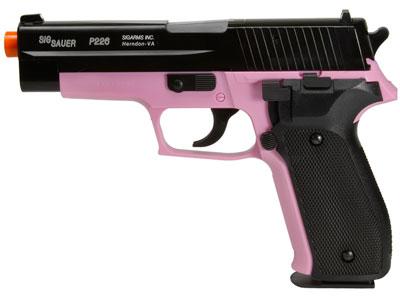 SIG Sauer P226 Airsoft Pistol, Pink/Black