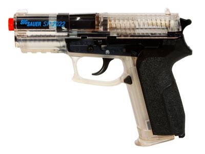 SIG Sauer SP2022 Spring Airsoft Pistol, Clear