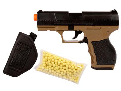 Stinger P9T Airsoft Pistol Kit, Holster