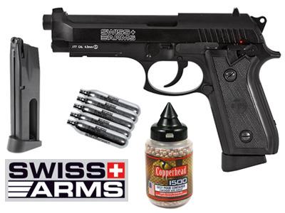 Swiss Arms P92 Full Metal CO2 Blowback Pistol Kit