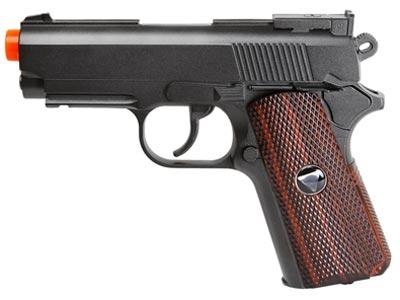 TSD Metal M1911 CO2 Pistol, Black  w/ Wood Grip