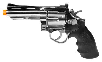"HFC HG-132 4"" Barrel Gas Revolver, Silver"