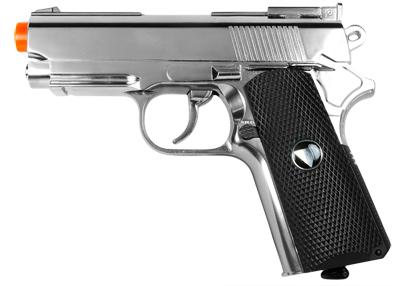 TSD Metal M1911 CO2 Pistol, Chrome w/ Black Grip
