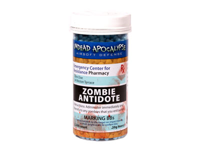 Crosman Undead Apocalypse Marker BBs, 0.20g, Blue, 2,200 Rds