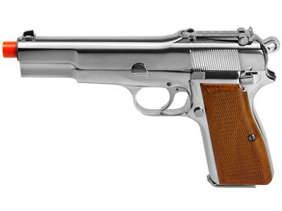 WE M1935 Gas Blowback Airsoft Pistol, Chrome