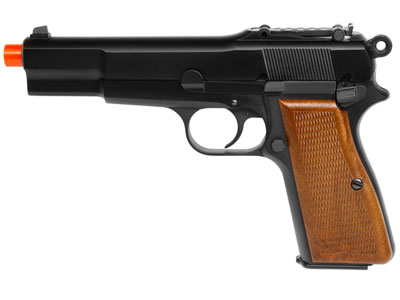 WE M1935 Gas Blowback Airsoft Pistol, Black