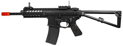 WE PDW Compact Gas Blowback Metal Rifle, Black