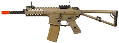 WE PDW Compact Gas Blowback Metal SMG, Tan