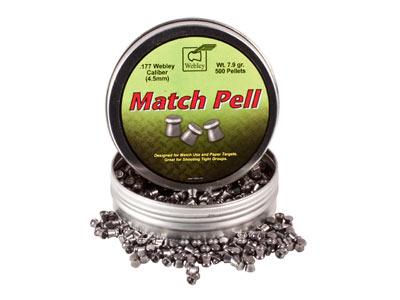 Webley Match Pell Pellets, .177 Cal, 7.90 Grains, Wadcutter, 500ct Webley & Scott Ltd.