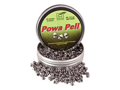 Webley Powa Pell Pellets, .22 Cal, 14.30 Grains, Pointed, 500ct