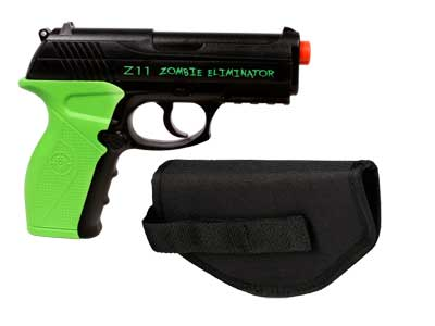 Crosman Z11 Zombie Eliminator Airsoft Pistol, Kit
