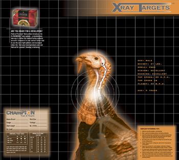 Champion X-Ray Paper Targets, Turkey, 18.75x16.75 - 6pk