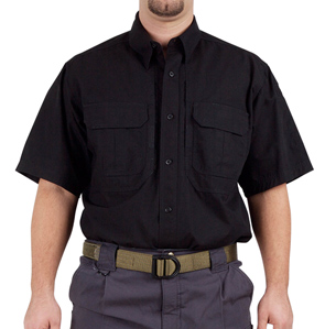 5.11 Tactical Short Sleeve Cotton Shirt, Black, Large