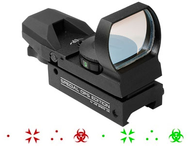 AIM Sports Special Ops Edition Red/Green Dot Sight, 4 Ill. Reticles, Weaver/Picatinny Mount