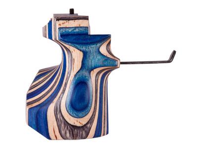 Anschutz Pistol Grip, Right-Hand, Laminated Blue, Med, Fits 8002-S2 Aluminum Stock