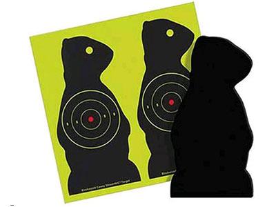 "Beeman Sharpshooter Corrugated Plastic Prairie Chuck Targets, 7.5"", 3"" Bullseye, 6ct"