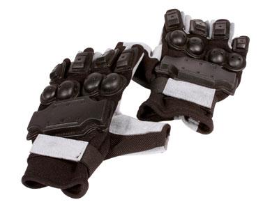 Air Venturi Full Armor Half-Finger Airsoft Gloves, Medium