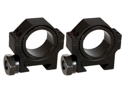 "AIM Sports 30mm Rings, Low, Weaver/Picatinny, 1"" Insert"