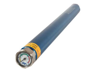 Anschutz Air Cylinder, Aluminum/Blue, Manometer