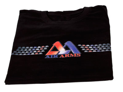 Air Arms Logo T-Shirt, Black, Large