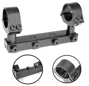 "B-Square 17420 Interlock Adjustable AA 1-Pc Mount w/1"" Rings, High, 11.7 mm Dovetail, Fits Webley Patriot"