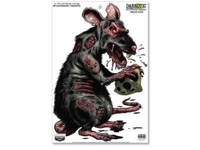 "Birchwood Casey Zombie Rat Darkotic Drain Pipe Splattering Target, 12""x18"", 8ct"