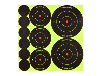 Birchwood Casey Shoot-N-C Self-Adhesive Round Bullseye Targets & Pasters, 121ct