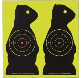 "Birchwood Casey Shoot-N-C Prairie Chuck Targets, 7"", 3"" Bullseye, 12ct"
