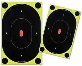 """Birchwood Casey Shoot-N-C Silhouette Targets, 7"""" Oval, 12 Targets + 48 Pasters"""