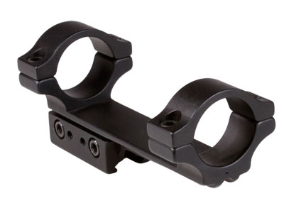 "BKL 1-Pc Mount, 4"" Long, 1"" Rings, 3/8"" or 11mm Dovetail, .007 Droop Compensation, Matte Black"