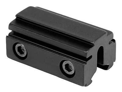 "BKL 3/8"" or 11mm Tri-Mount Dovetail Riser Mount, 1.625"" Long, Black"