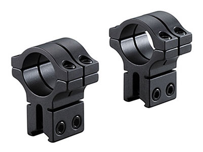 """BKL 1"""" Rings, 3/8"""" or 11mm Dovetail, Double Strap, Matte Black"""