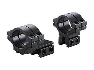 "BKL 1"" Rings, 3/8"" or 11mm Dovetail, Double Strap, Offset, Matte Black"