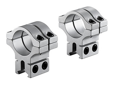 """BKL 30mm Rings, 3/8"""" or 11mm Dovetail, Double Strap, Silver"""