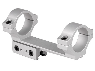 "BKL 1-Pc Mount, 30mm Rings, 3/8"" or 11mm Dovetail, 4"" Long, Offset, Silver"