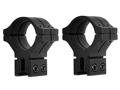 "BKL 1"" Rings, 14mm Dovetail, Double Strap, Matte Black"