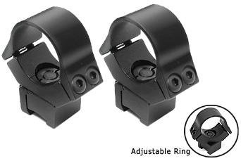 "B-Square 10101 1"" Interlock Adjustable Rings, 11mm Dovetail"