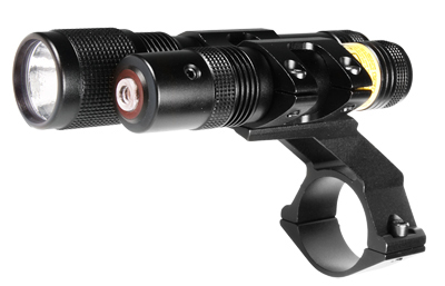 BSA Stealth Flashlight and Red Laser, 2 Mounts